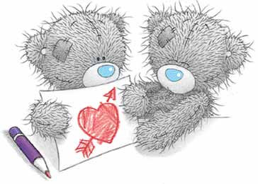 ours dessin coeur - Ours Coeur